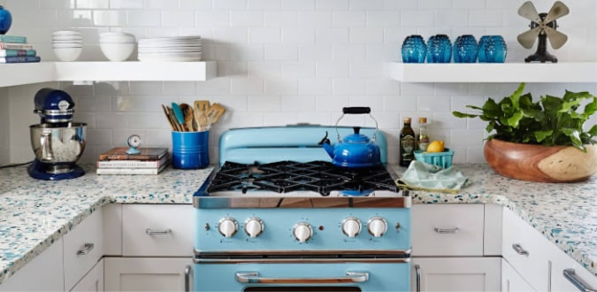 California Recycled Glass Countertops