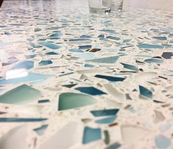 Recycled Glass Countertops in Sacramento California