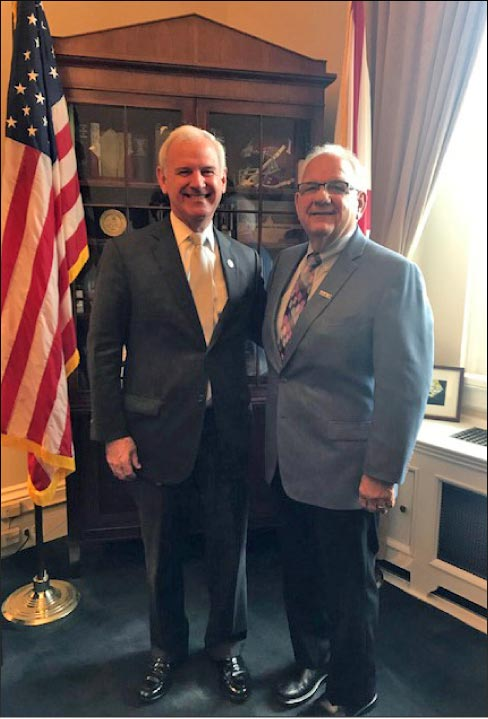 G.K. Naquin (on right) and 20 other MIA+BSI members met with members of Congress across the Gulf South. Naquin is pictured here with Alabama Senator Bradley Byrne.
