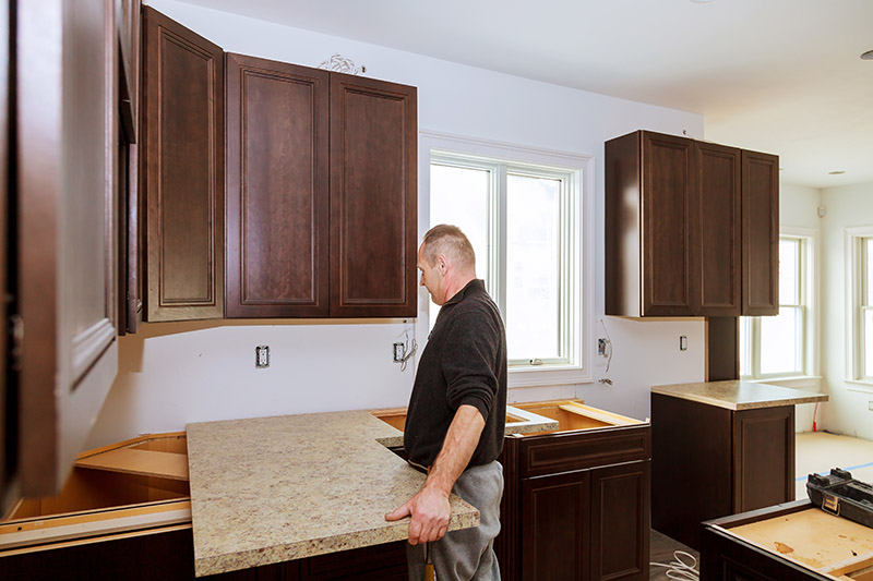 countertop installation project